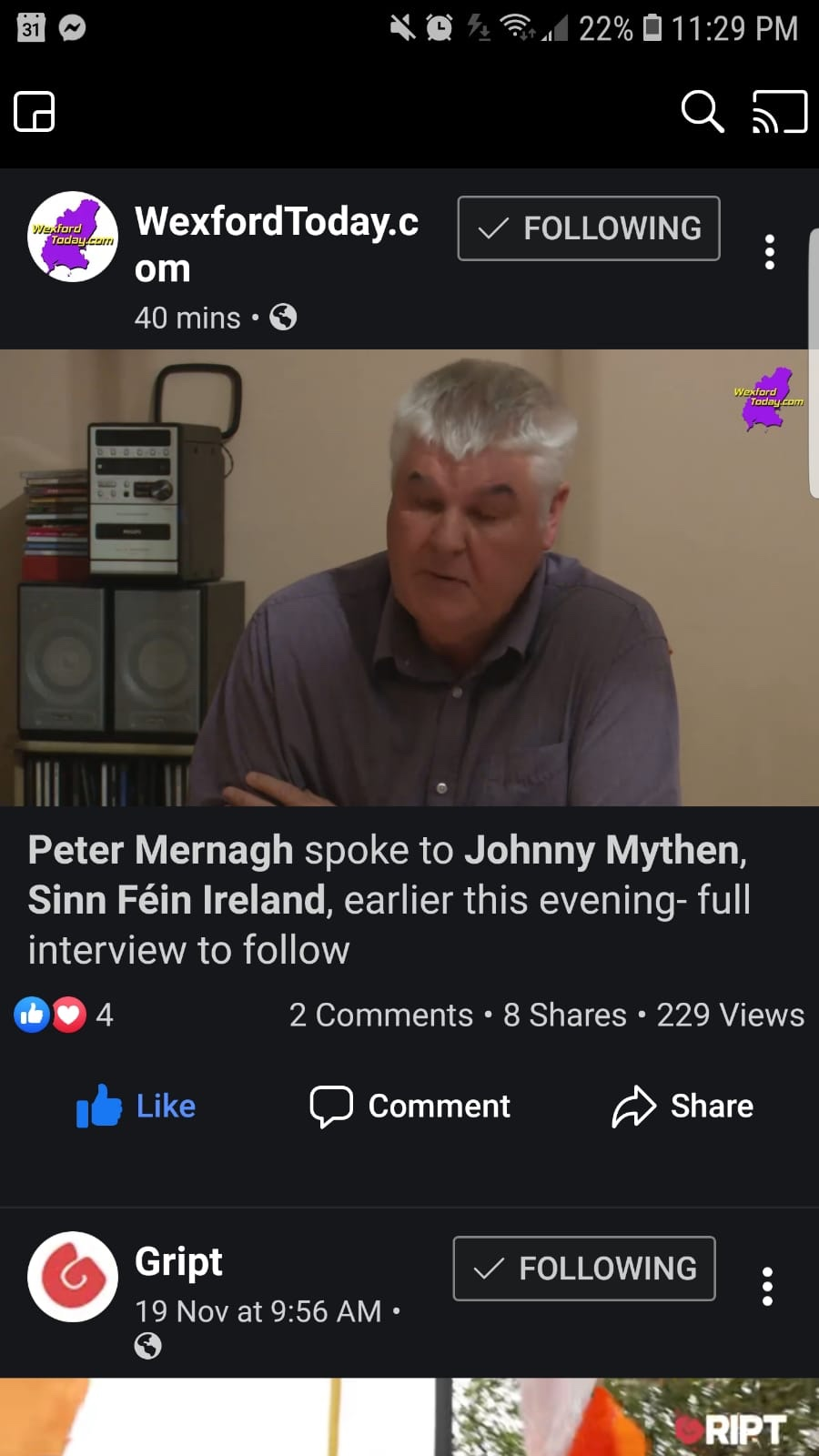 Wexford By-election candidate Johnny Mythen video interview by WexfordToday.com